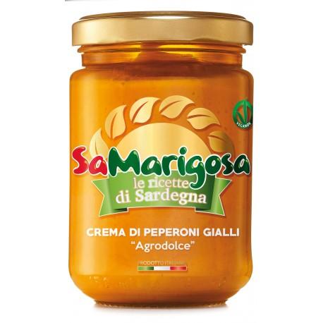 Crema Peperoni gialli in agrodolce Vaso 130 g