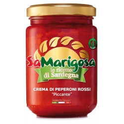 """Crema di Peperoni Rossi """"Piccante"""" Vaso 130 g"""