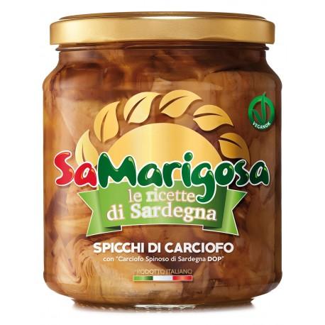 """Spicchi di Carciofo con """"Carciofo Spinoso di Sardegna DOP"""" Vaso 280 g"""