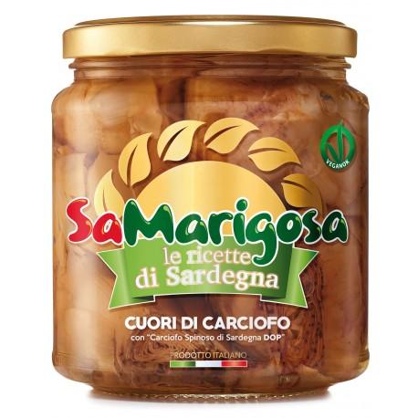 """Cuori di Carciofo con """"Carciofo Spinoso di Sardegna DOP"""" Vaso 280g"""