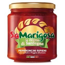 Peperoncini Ripieni con Carciofo e Mugg. Affumicato Vaso 280 g