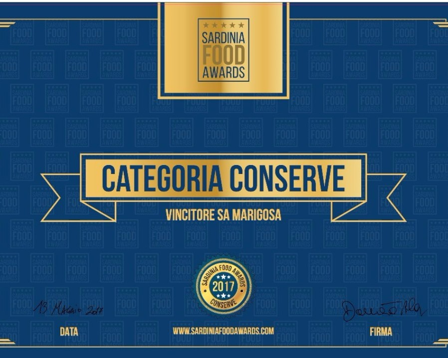 Sa Marigosa winner of Sardinia Food Awards 2017