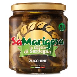 Preserved courgettes in oil. 280 g. Jar