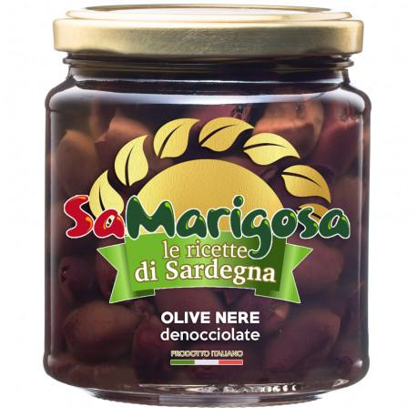 Olive nere denocciolate  Vaso 280 g