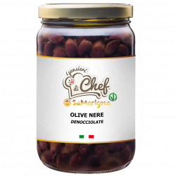 Pitted black olives 1400 g. Jar