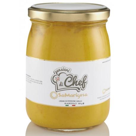 Bittersweet yellow pepper spread. 500 g. Jar