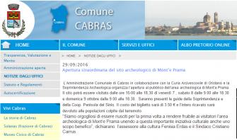 7-8-9 Ottobre 2016 -Apertura straordinaria del sito archeologico di Mont'e Prama