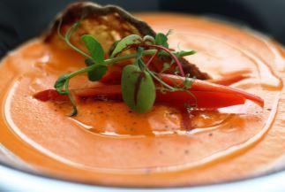Zuppa calda di gazpacho